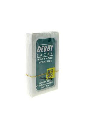 Ανταλλακτικά ξυραφάκια Derby. Κάθε κουτάκι περιέχει 5 λεπίδες. Τουρκικής προελεύσεως.