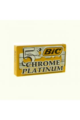 Bic Chrome Platinum. Ανταλλακτικά ξυραφάκια Ελληνικής κατασκευής. Κάθε κουτάκι περιέχει 5 ανταλλακτικά ξυραφάκια.