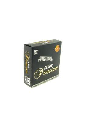 Ξυραφάκια Derby Premium για Shavette - Συσκευασία με 100 ξυραφάκια