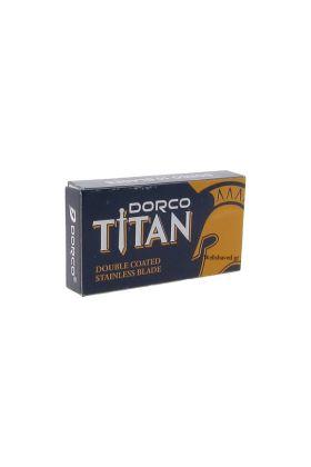 Ξυραφάκια Dorco Titan Stainless κατάλληλα για όλες τις ξυριστικές μηχανές. Κάθε κουτάκι περιέχει 10 ξυραφάκια.