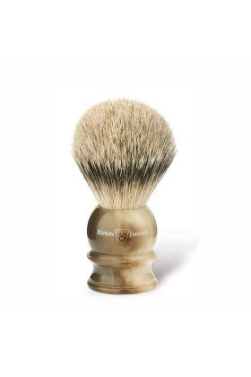 Πινέλο ξυρίσματος με τρίχες ασβού της Edwin Jagger. Πινέλο ξυρίσματος με τρίχες ασβού κατηγορίας Silvertip.
