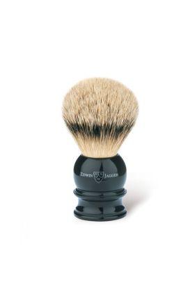 Πινέλο ξυρίσματος με τρίχες ασβού της Edwin Jagger. Πινέλο ξυρίσματος με τρίχες ασβού κατηγορίας Silvertip με λαβή μαύρου χρώματος.