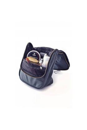 Blue Navy δερμάτινο τσαντάκι μπάνιου με γάτζο της Epsilon