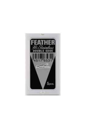Ανταλλακτικά ξυραφάκια Feather. Συσκευασία με 5 ξυραφάκια
