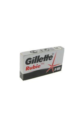 Ανταλλακτικά ξυραφάκια Gillette Rubie. Συσκευασία με 5 ξυραφάκια.