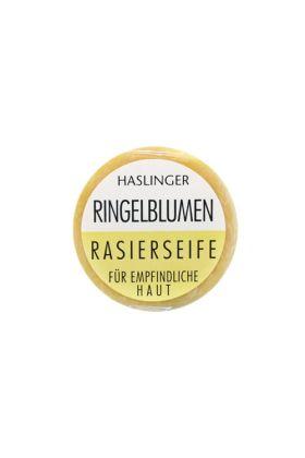 Σαπούνι ξυρίσματος της Haslinger με καλέντουλα (Κατιφές). Ελαφρά αρωματισμένο σαπούνι με όλες τις ιδιότητες της καλέντουλα.