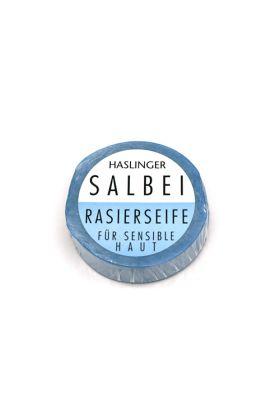 Σαπούνι ξυρίσματος Haslinger με Φασκόμηλο. Συνίσταται ιδιαίτερα σε όσους έχουν λιπαρό δέρμα. Σαπούνι πλούσιο σε tallow και γλυκερίνη.