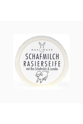 Σαπούνι ξυρίσματος Haslinger με γάλα προβάτου και λανολίνη. Αν θέλετε ένα σαπούνι που να τα συνδυάζει και τα δύο, τότε αυτό το σαπούνι είναι για εσάς