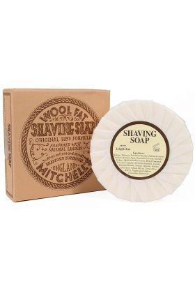 Σαπούνι ξυρίσματος Mitchell's Wool Fat. Προσφέρει εξαιρετική ενυδάτωση και προστασία κατά τη διάρκεια του ξυρίσματος. 125 γραμμάρια