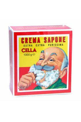 Κρέμα ξυρίσματος Cella με άρωμα αμύγδαλο σε συσκευασία του (1) ενός κιλού. Η δημιουργία αφρού είναι εξαιρετικά εύκολη ενώ η ποιότητα του αφρού είναι εξαιρετική.
