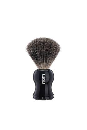 Πινέλο ξυρίσματος ασβού της nom - pure badger με πλαστική λαβή μήκους 5,30 cm. Knot : 21 mm