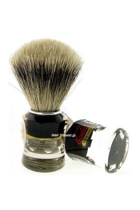 Πινέλο ξυρίσματος ασβού (Super Badger) – Semogue 730 - Συνολικό ύψος : 102 mm - Ύψος λαβής : 45 mm - Μήκος τρίχας : 55 mm - Διάμετρος Knot : 22 mm – Λαβή από ακρυλικό.