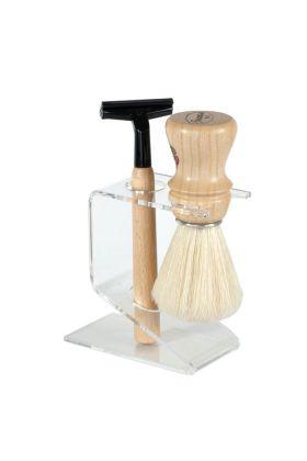 Πλαστική βάση για τα πινέλα Semogue με υποδοχή για ξυριστική μηχανή. Διαβάστε στην περιγραφή του προϊόντος για ποια πινέλα Semogue είναι κατάλληλη.