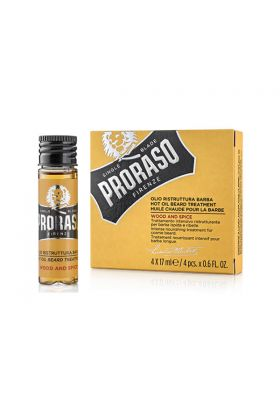 Proraso Hot Oil Beard Treatment Wood & Spice 4x17ml