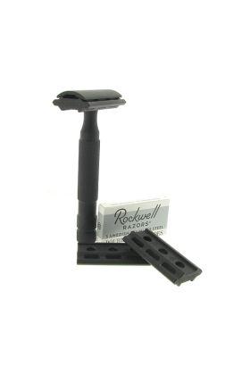Ρυθμιζόμενη ξυριστική μηχανή από ανοξείδωτο ατσάλι Rockwell 6S Black