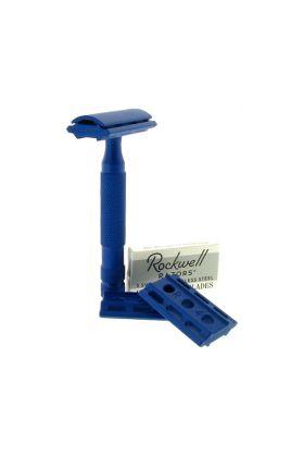 Ρυθμιζόμενη ξυριστική μηχανή από ανοξείδωτο ατσάλι Rockwell 6S Blue
