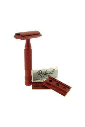 Ρυθμιζόμενη ξυριστική μηχανή από ανοξείδωτο ατσάλι Rockwell 6S Red