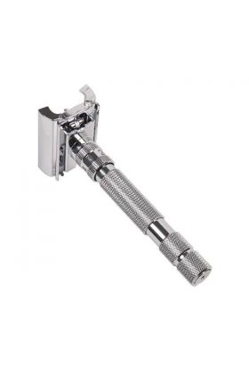 Ρυθμιζόμενη ξυριστική μηχανή πεταλούδα Rockwell Model T White Chrome