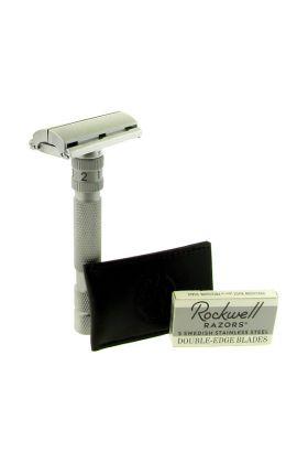Ρυθμιζόμενη ξυριστική μηχανή πεταλούδα Rockwell Model T Brushed