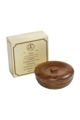 Σαπούνι ξυρίσματος Taylor of Old Bond Street με άρωμα σανδαλόξυλο σε ξύλινο δοχείο. Συσκευασία των 100 γραμμαρίων