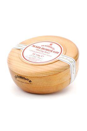 Σαπούνι ξυρίσματος Marlborough της Dr Harris. Αγγλικής παραγωγής. Δημιουργεί έναν εξαιρετικό αφρό ξυρίσματος με ένα ζεστό γήινο άρωμα. Ξύλινο μπολ από οξιά.
