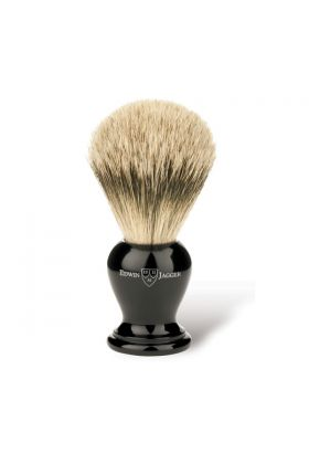Πινέλο ξυρίσματος με τρίχες ασβού της Edwin Jagger. Super Badger. Μήκος λαβής : 4,50cm, Μήκος τρίχας : 5,50cm, Συνολικό μήκος : 10,00cm