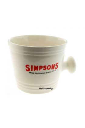 Κεραμικό μπολ για τη δημιουργία αφρού ξυρίσματος της Simpsons. Διαστάσεις : Ύψος 10,00 cm - Μέγιστη εσωτερική διάμετρος : 11,00 cm - Ελάχιστη εσωτερική διάμετρος (Βάση) : 8,00 cm