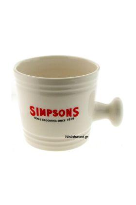 Κεραμικό μπολ ξυρίσματος της Simpsons για δημιουργία αφρού. Διαστάσεις : Ύψος 7,70 cm - Μέγιστη εσωτερική διάμετρος : 8,00 cm - Ελάχιστη εσωτερική διάμετρος (Βάση) : 6,00 cm