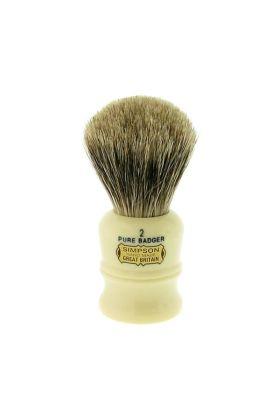 Πινέλο ξυρίσματος με τρίχες ασβού Simpson Duke 2 Pure Badger