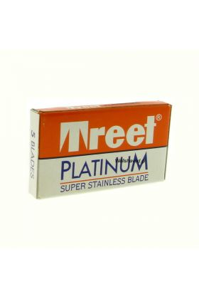 Ξυραφάκια Treet Platinum Stainless κατάλληλα για όλες τις ξυριστικές μηχανές. Κάθε κουτάκι περιέχει 5 ξυραφάκια.