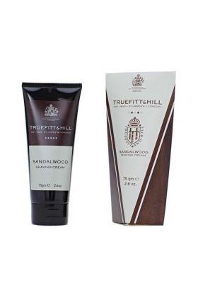 Κρέμα ξυρίσματος της Truefitt & Hill με άρωμα σανταλόξυλο σε σωληνάριο των 75gr. Ιδανικό για τα ταξίδια σας.
