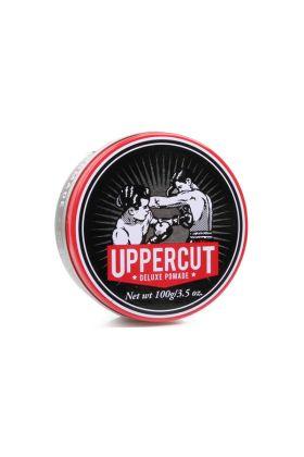Uppercut Deluxe Pomade για δυνατό κράτημα και μέτρια προς έντονη λάμψη. Ιδανικό για μέτριου μήκους μαλλιά.